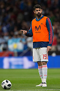Diego Costa of Spain warms up before the International friendly game football match between Spain and Argentina on march 27, 2018 at Wanda Metropolitano Stadium in Madrid, Spain - Photo Rudy / Spain ProSportsImages / DPPI / ProSportsImages / DPPI