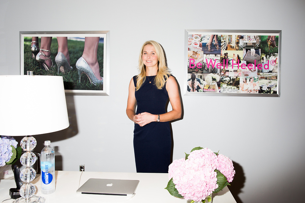 Co-founder of Solemates, Becca Brown in her office, 2016
