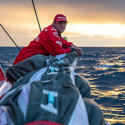 Leg 11, from Gothenburg to The Hague, day 01 on board MAPFRE, Antonio Cuervas-Mons with.a nice sunset. 21 June, 2018.