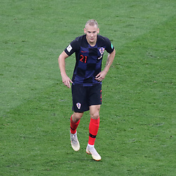July 11, 2018 - Moscow, Russia - July 11, 2018, Moscow, FIFA World Cup 2018 Football, the playoff round. 1/2 finals of the World Cup. Football match Croatia - England at the stadium Luzhniki. Player of the national team Domagoy Vida; (Credit Image: © Russian Look via ZUMA Wire)