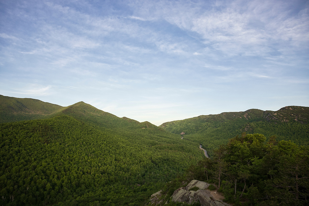 Early morning view of Cascade Mountainfrom Owl's Head in Keene New York