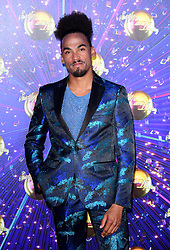 Dev Griffin arriving at the red carpet launch of Strictly Come Dancing 2019, held at BBC TV Centre in London, UK.