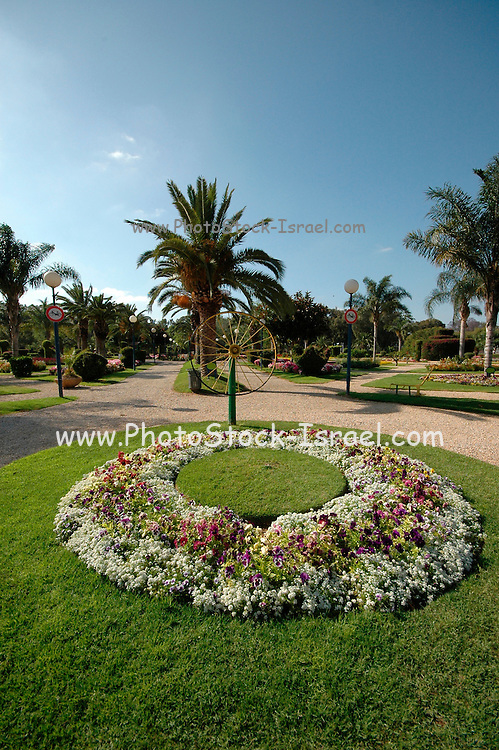 grass and flowers in the gardens of the Ramat Gan National park, Israel