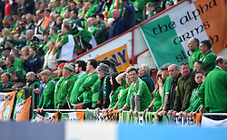 Republic of Ireland fans in the stands during the UEFA Euro 2020 Qualifying, Group D match at the Victoria Stadium, Gibraltar.
