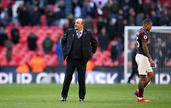 Newcastle United manager Rafael Benitez after the Premier League match at Wembley Stadium, London.