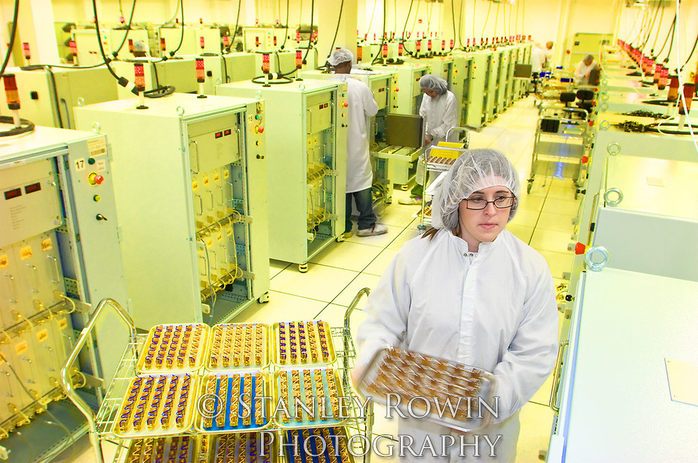 A microchip manufacturing facility