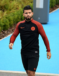 Sergio Aguero of Manchester City walks out to train - Mandatory by-line: Matt McNulty/JMP - 12/09/2016 - FOOTBALL - Manchester City - Training session ahead of Champions League Group C match against Borussia Monchengladbach