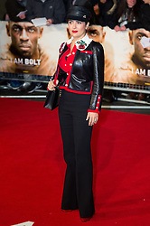 © Licensed to London News Pictures. 28/11/2016. SALMA HAYEK attend's the I Am Bolt world film premiere. London, UK. Photo credit: Ray Tang/LNP