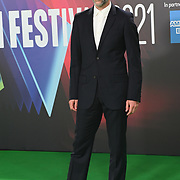 Tim Steed arrives at The Phantom of the Open at BFI London Film Festival 2021, 12 October 2021 Southbank Centre, Royal Festival Hall, London, UK.