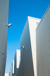 New warehouses for housing art galleries and studios at new extension to Alserkal art district in Al Quoz Dubai United Arab Emirates