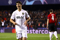 December 12, 2018 - Valencia, Spain - Carlos Soler of Valencia CF celebrate after scoring the 1-0 goal during UEFA Champions League Group H between Valencia CF and Manchester United at Mestalla stadium  on December 12, 2018. (Photo by Jose Miguel Fernandez/NurPhoto) (Credit Image: © Jose Miguel Fernandez/NurPhoto via ZUMA Press)