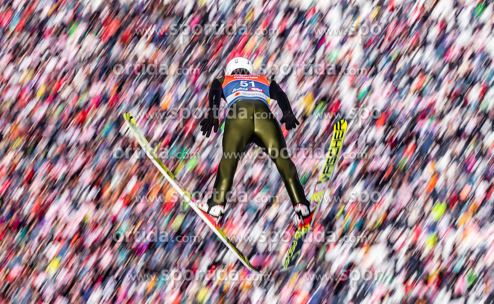 28.02.2019, Seefeld, AUT, FIS Weltmeisterschaften Ski Nordisch, Seefeld 2019, Nordische Kombination, Skisprung, im Bild Martin Fritz (AUT) // Martin Fritz of Austria during the Ski Jumping competition for Nordic Combined of FIS Nordic Ski World Championships 2019. Seefeld, Austria on 2019/02/28. EXPA Pictures © 2019, PhotoCredit: EXPA/ JFK