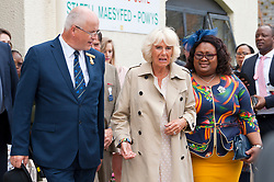 © Licensed to London News Pictures. 22/07/2019. Llanelwedd, Powys, UK. Camilla Parker Bowles, The Duchess of Cornwall and Queen Pumi, Queen of the Zulu Nation visit on the first day of the 100th Royal Welsh Agricultural Show. The Royal Welsh Agricultural Show is hailed as the largest & most prestigious event of its kind in Europe. In excess of 200,000 visitors are usually expected for the annual four day show period. The Royal Welsh Agricultural Society was founded in 1904. Photo credit: Graham M. Lawrence/LNP