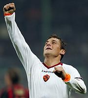 """Francesco Totti (Roma) <br /> <br /> Francesco Totti festeggia il secondo gol della Roma <br /> <br /> Italian """"Serie A"""" 2006-07 <br /> <br /> 11 November 2006 (Match Day 11) <br /> <br /> Milan Roma (1-2) <br /> <br /> """"Giuseppe Meazza"""" Stadium-Milano-Italy <br /> <br /> Photographer Andrea Staccioli INSIDE"""