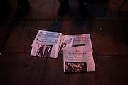 The Inauguration of President Barack Obama. Washington DC, January 20, 2009. Historic editions of newspapers for sale on Washington DC streets.