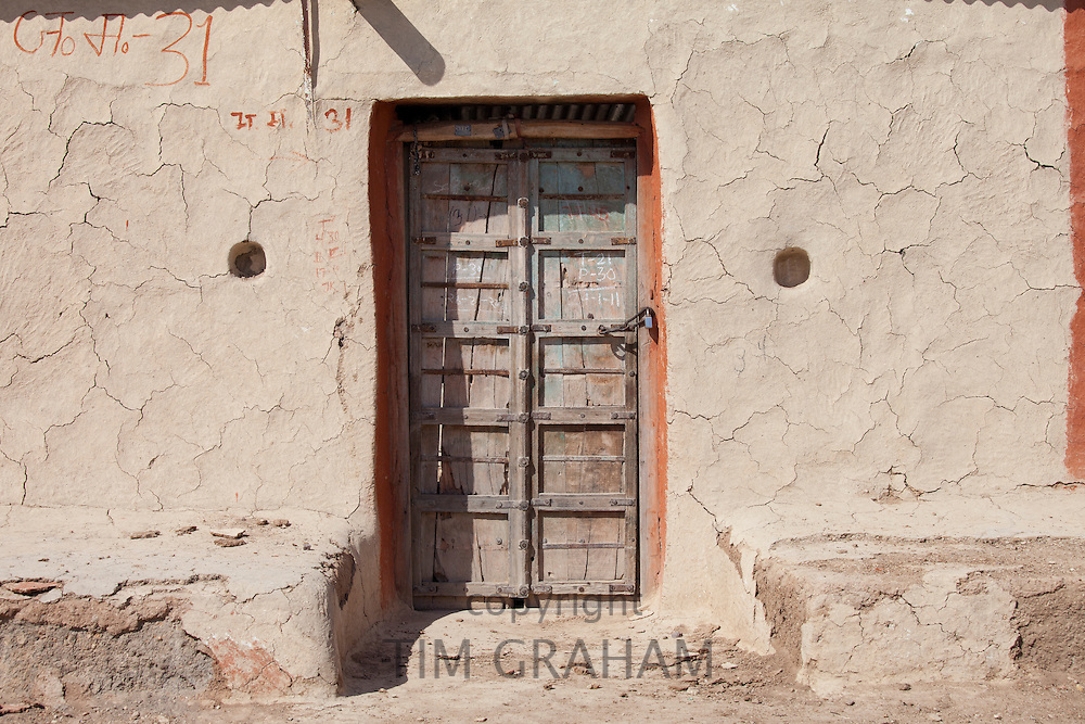 Unoccupied home in Hindu village of Dhudaly in Rajasthan, Northern India