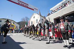 20.04.2016, Aras, AUT, 40. Giro del Trentino Melinda, 2. Etappe von Arno nach Aras, im Bild Schützenkompanie Anras beim Ausführen der Ehrenslave// during the 2nd stage from Arco to Anras of 40th Giro del Trentino. Auras, Austria on 2015/04/20. EXPA Pictures © 2015, PhotoCredit: EXPA/ Johann Groder