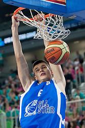 Ivars Zvigurs (team blue) of Latvia during basketball match U18 All Star Game 2013 at Day 18 of Eurobasket 2013 on September 21, 2013 in SRC Stozice, Ljubljana, Slovenia. (Photo By Urban Urbanc / Sportida)