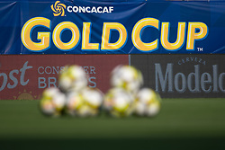 July 19, 2017 - Philadelphia, Pennsylvania, U.S - Soccer balls piles up for training at Gold Cup 2017 at Lincoln Financial Field in Philadelphia, PA.  Costa Rica defeats Panama 1 to 0. (Credit Image: © Mark Smith via ZUMA Wire)