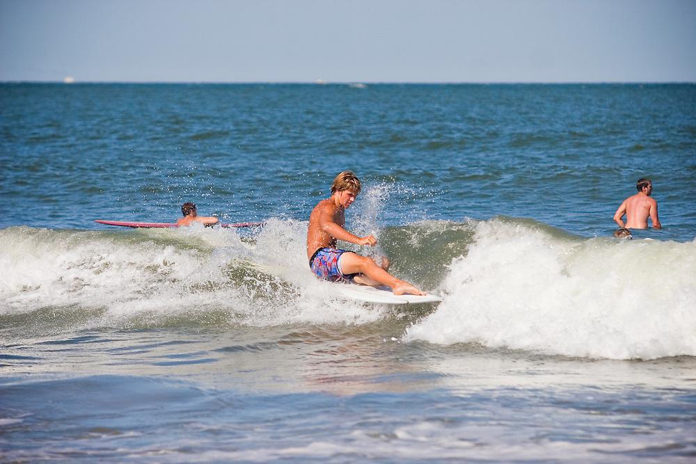 July 17, 2011; Virginia Beach, VA, USA; Wesley Francis surfing. Mandatory Credit: Peter J. Casey