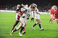 Rugby Union - 2017 Old Mutual Wealth Series (Autumn Internationals) - England vs. Canada Women<br /> <br /> Abigail Dow of England runs over for another try at Twickenham.<br /> <br /> COLORSPORT/ANDREW COWIE