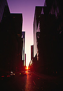 Image of downtown Manhattan at sunrise, New York City, New York, east coast by Randy Wells