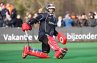 BLOEMENDAAL  - keeper David Harte (Kampong) . Bloemendaal-Kampong (2-1).  hoofdklasse hockey mannen.   COPYRIGHT KOEN SUYK