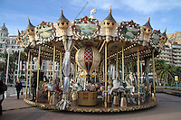 Old World Style Merry Go Round Alicante Port High Quality Prints please enquire via contact Page. Rights Managed Downloads available for Press and Media