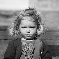 Portrait of girl, taken at Parc de Laberint, Barcelona.