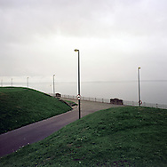Otterspool Promenade by the banks of the river Mersey, a popular area for leisure in the city. The Mersey is a river in north west England which stretches for 70 miles (112 km) from Stockport, Greater Manchester, ending at Liverpool Bay, Merseyside. For centuries, it formed part of the ancient county divide between Lancashire and Cheshire.