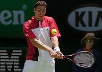 MELBOURNE, AUSTRALIA - JANUARY 23: Marat Safin of Russia in action during day five of the Australian Open January 23, 2004 in Melbourne, Australia. (Photo by Lars Mueller/Sportsbeat) *** Local Caption *** -