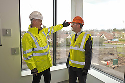 Pictured: Michael Matheson with Morrison Construction's project Director Phil Galbraith<br /> <br /> Infrastructure Secretary Michael Matheson visited East Lothian Community Hospital's construction site today to give an update on the Scottish Government's infrastructure programme, on the same day as an annual progress report is published<br /> <br /> Ger Harley   EEm 17 April 2019