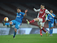 Football - 2020 / 201 UEFA Europa League - Round 16 - Second Leg - Arsenal vs Olympiakos - Emirates Stadium<br /> <br /> Sokratis Papastathopoulos of Olympiakos<br /> <br /> <br /> Credit : COLORSPORT/ANDREW COWIE