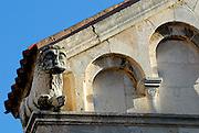 Detail of stone lion and masonry, Cathedral of St. Anastasia (Katedrala sv. Stosije). Zadar, Croatia