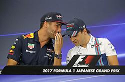 October 6, 2017 - Suzuka, Japan - Daniel Ricciardo, Red Bull Racing, Felipe Massa, Williams F1 Team, formula 1 GP, Japan in Suzuka, 06.10.2017.Photo:mspb/Lukas Gorys.Credit: Melzer/face to face (Credit Image: © face to face via ZUMA Press)