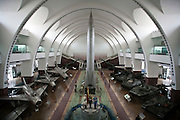 A missile, tanks and planes are on display at Beijing's Military History Museum.