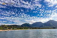 Clouds over Hanalei Bay in Kauai, Hawaii, USA