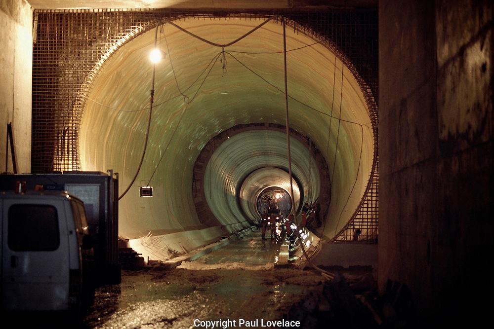 Eurotunnel being built, Dover, Kent, UK 1990