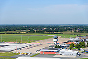 Nederland, Groningen, Gemeente Tynaarlo, 27-08-2013; Groningen Airport Eelde. Terminal building, stationsgebouw.<br /> luchtfoto (toeslag op standard tarieven);<br /> aerial photo (additional fee required);<br /> copyright foto/photo Siebe Swart