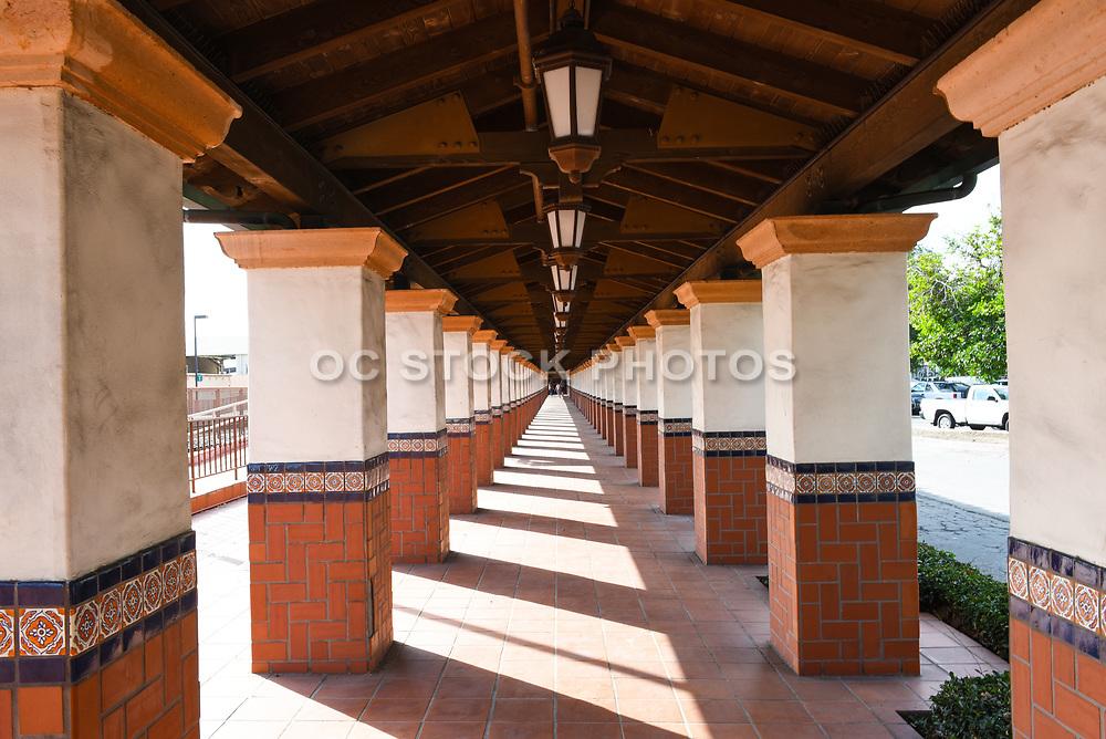 A Colonnade at Santa Ana Train Station