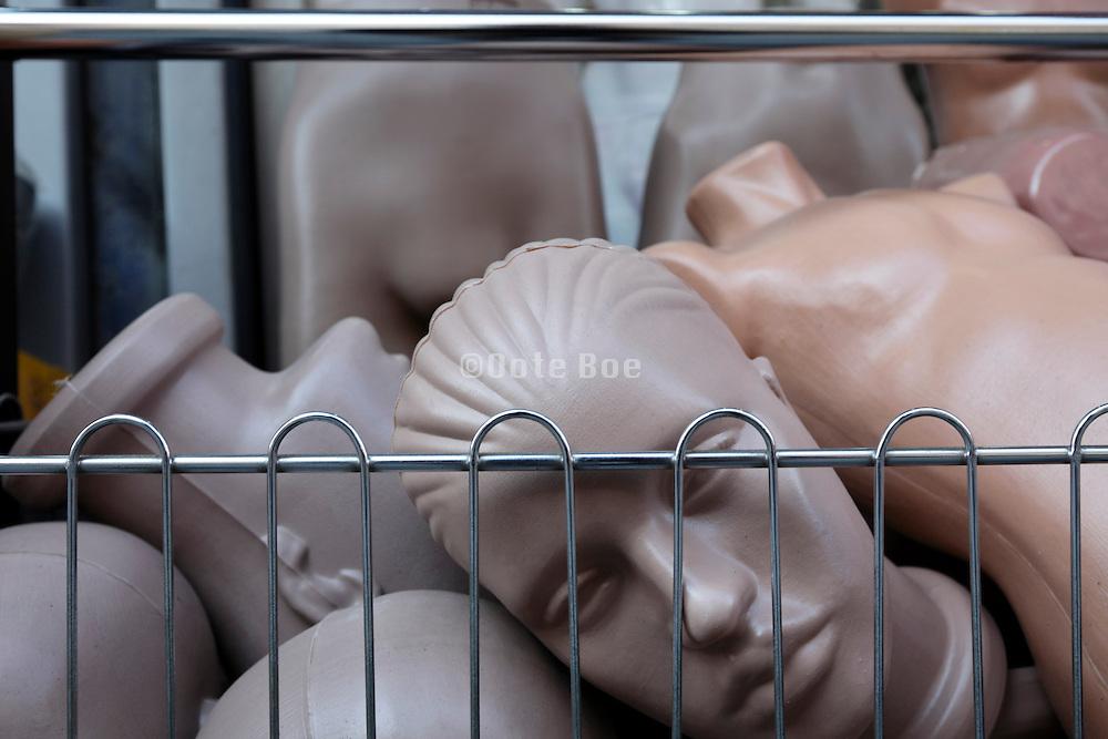 retail store of mannequin parts