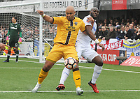 Football - 2016 / 2017 FA Cup - Fourth Round: Sutton United vs. Leeds United<br /> <br /> Simon Downer of Sutton and Souleyman Doukara of Leeds at Gander Green Lane.<br /> <br /> COLORSPORT/ANDREW COWIE