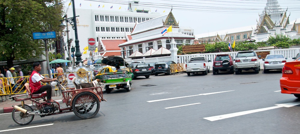 Motorised stall in the streets of Bangkok, Thailand.
