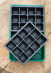 Plastic seed trays and cell liners