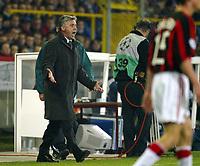 Fotball, 4. november 2003, Champions League,, Club Brugge ( Brügge )-Milan 0-1,  trener for Milan, Carlo Ancelotti, Milan