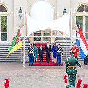 NLD/Den Haag/20170519 - Koning Willem Alexander en Koningin Maxima Ontvangen Presidentspaar Mozambique, Koning Willem-Alexander , Maxima en president Filipe Nyusi, en de first lady  Isaura Nyusi