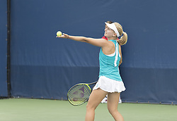 August 31, 2017 - New York, New York, United States - Daria Gavrilova of Australia serves during match against Shelby Rogers of USA at US Open Championships at Billie Jean King National Tennis Center  (Credit Image: © Lev Radin/Pacific Press via ZUMA Wire)