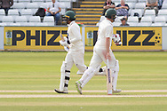 Paul Horton & Hassan Azad during the Specsavers County Champ Div 2 match between Durham County Cricket Club and Leicestershire County Cricket Club at the Emirates Durham ICG Ground, Chester-le-Street, United Kingdom on 20 August 2019.