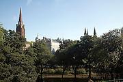 View over Union Terrace Gardens, Aberdeen, Scotland