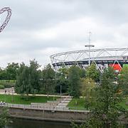 2021-09-20 Stratford, London, UK. ArcelorMittal Orbit at Queen Elizabeth Olympic Park, East Bank.